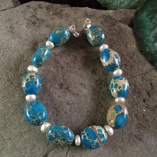 Blue lace Jasper gemstone bracelet
