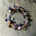 Swarovski crystal teardrop stretch bracelet