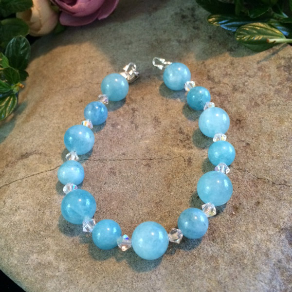 Blue Calcite gemstone bracelet