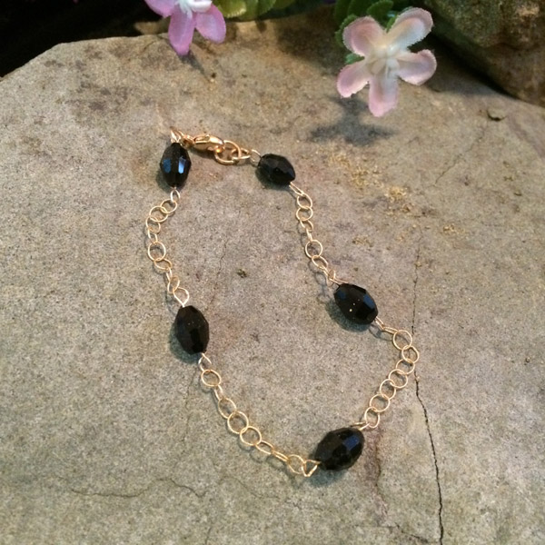 Gold fill chain with Chinese crystal bracelet