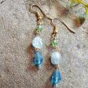 blue aquamarine earrings
