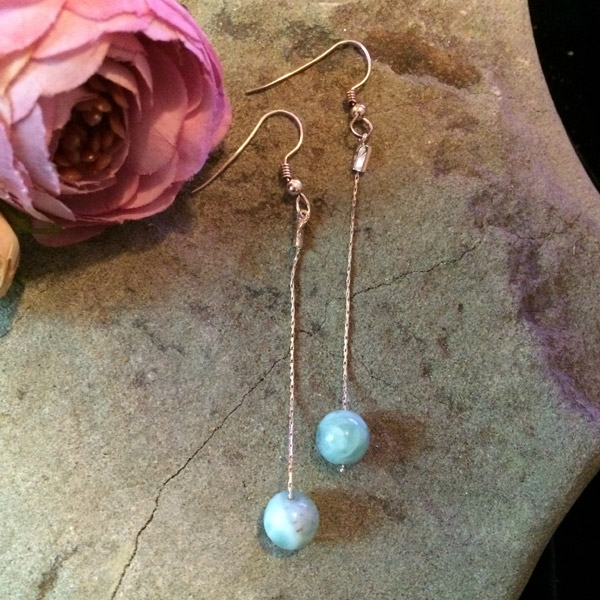 Larimar & Silver Earrings
