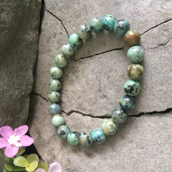 Chinese Turquoise gemstone stretch bracelet