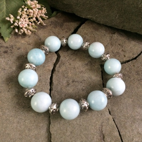 blue larimar metal bracelet